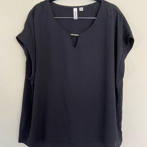 Women's Black Short Sleeved Blouse